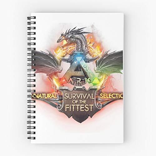 Ark Game Evolved Gaming Pc Survival Nettes Schul-Fünf-Sterne-Spiral-Notizbuch mit haltbarem Druck