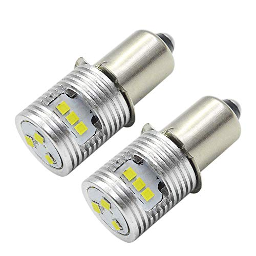 Ruiandsion Actualización de la bombilla de la linterna LED P13.5S Bombillas base 6-24V CSP 9SMD Chipset para el faro Linterna Antorcha LED Kit de conversión Bombilla (paquete de 2)