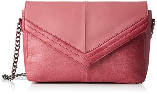 PIECES Damen Pcbella Leather Cross Body Umhängetasche, Pink (Malaga), 6x16x27 cm