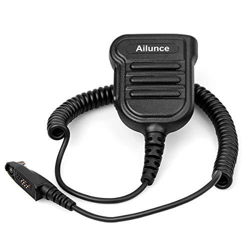 Ailunce H103M Funkgerät Lautsprecher Mikrofon IP67 Wasserdicht Kompatibel mit Ailunce HD1 DMR Radio Kompatibel mit Retevis RT648 RT87 RT29 RT647 RT83 Walkie Talkies (1 STK.)