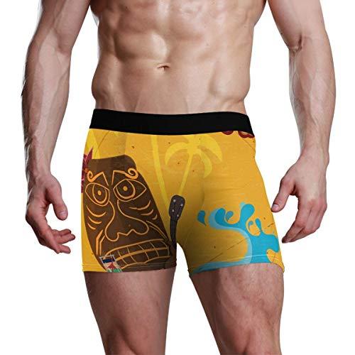 GOSMAO Herren Boxershort Boxer Hawaiian Masken Muster Männer Unterhosen Unterwäsche,8,XXL