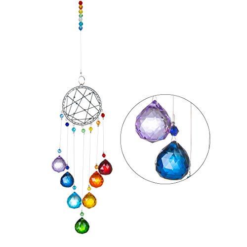Atrapasoles de Cristal Adorno Colgante de Ventana de Cristal Colgantes Cristal Lampara Prisma para Hogar Oficina Jardín Ventana