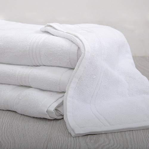 UK Care Direct - Telo da bagno in cotone 100%, colore: bianco, Cotone, bianco, Bath Towel 75 x 150cm