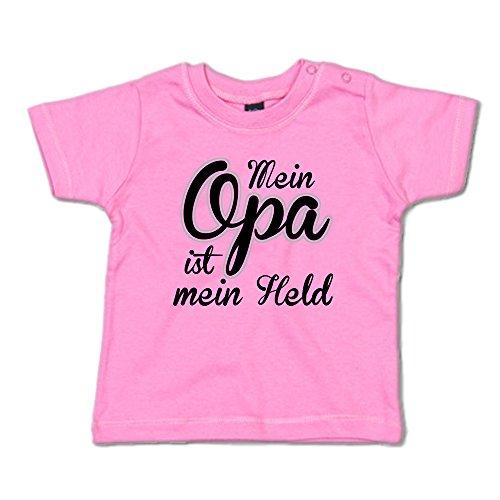 Mein Opa ist Mein Held Baby T-Shirt 266.0346 (12-18 Monate, pink)