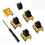 ERYONE TMC2208 V1.2 3D Printer Stepper Motor Driver Module with Heat Sink Screwdriver for Mother Boards Reprap MKS Prusa and More (5pcs/Pack)