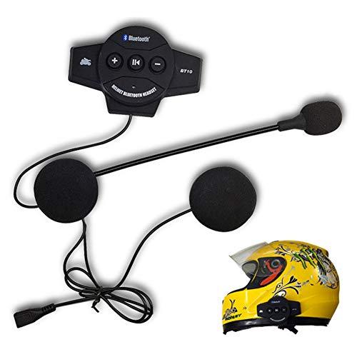 Litake Motorcycle Helmet Headset, BT-10 Motor Wireless Bluetooth Headset, Motorcycle Helmet Headphone...