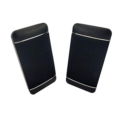 Accod PC Desktop Speaker Wired Computer Speaker USB Powered Portable Speaker with Stereo Sound Multimedia Desktop Speaker for Laptop/PC/Smart Phone and Tablet Computer (Black)