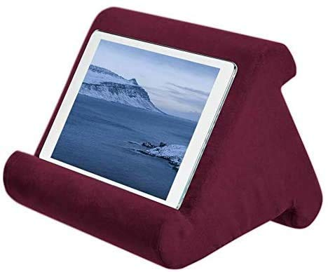 aycpg Triangle tablet pillow multi-angle portable pillow stand tablet pillow stand soft pillow laptop pillow holder anti-slip stand mobile holder-A (Size : C)