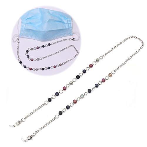 Wanghuaner Beaded Mask Chains Face Masks Lanyards Eyeglass Necklace Strap for Women Girls