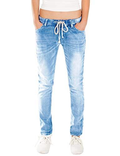 Fraternel Damen Jeans Hose Relaxed Loose fit Blau L