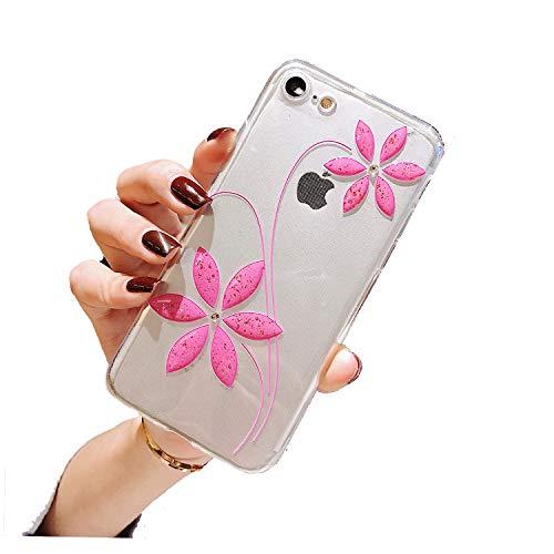 Nadoli Glitter Hoesje iPhone 6 Plus / 6S Plus roze