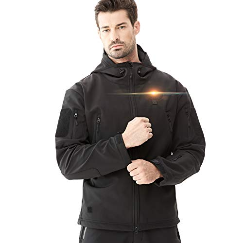 DEWBU Men's Soft Shell Heated Jacket