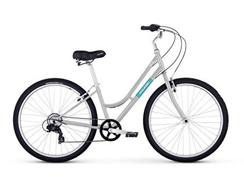 Raleigh Bikes Venture Step Thru Comfort Bike, 17'/Medium, Silver
