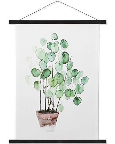 Magnetic Poster Hanger Wooden Poster Hangers, Extra Strong Magnets, Quick Assembly and Easy Use, Wood Poster Hanger for Wall Art, Pictures, Prints, Maps, Canvas, Black