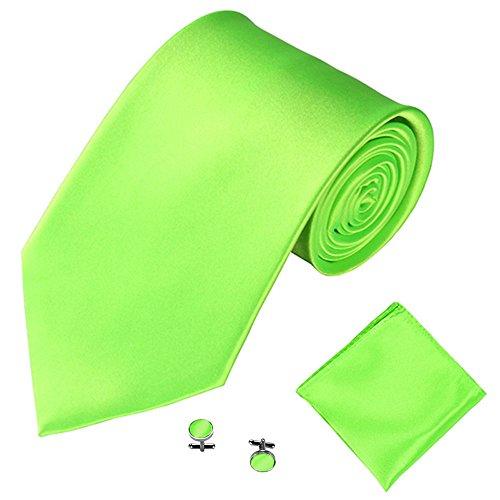 Qiuday Belts & Accessoires Herren Krawatten-Set Gewebtem Jacquard Krawatten Taschentuch Manschettenknopf 3PCS Paisley Cashew Taschen Krawatte Handtuch Manschetten dreiteiliges Set