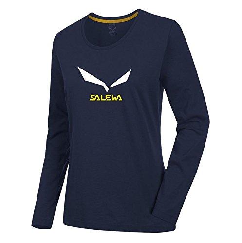 Salewa 25790 T-Shirt Femme, Night Black, FR : L (Taille Fabricant : L)
