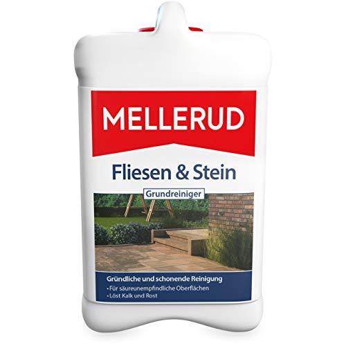 MELLERUD Fliesen & Stein Grundreiniger – Zuverlässiges Mittel zum Entfernen von hartnäckigen Verschmutzungen auf säureunemfpindlichen Oberflächen – 1 x 2,5 l
