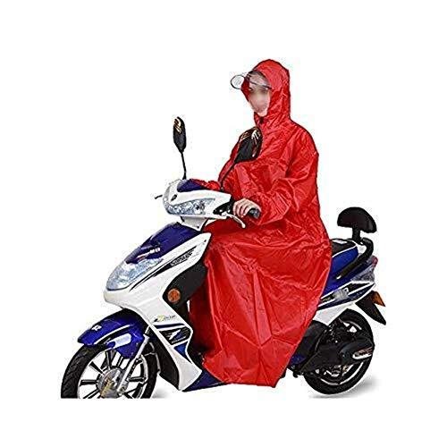 ZXL waterdichte regenjas, waterdicht, voor wielrennen, regenponcho, scooter, motorfiets, fiets, waterdicht, 10 cm lang, met dik Oxford-weefsel