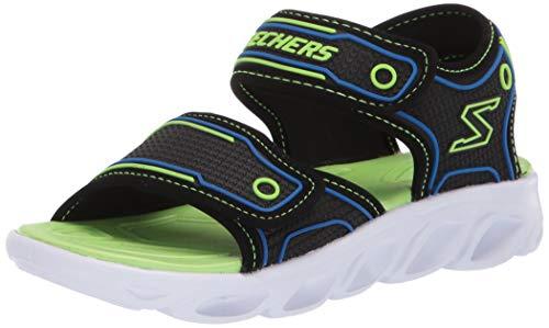Skechers Hypno-Splash-Sandale für Kinder, Schwarz (Schwarz/Blau/Limette), 24 EU
