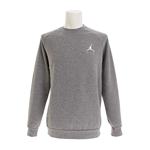 Nike Herren Jumpman Fleece Crew Sweatshirt M Carbon Heather/White