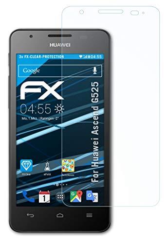 atFolix Schutzfolie kompatibel mit Huawei Ascend G525 Folie, ultraklare FX Bildschirmschutzfolie (3X)