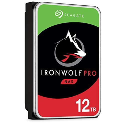 Seagate ST12000NE0007 IronWolf Pro 12TB disco rigido interno NAS (3,5 pollici, 7200 RPM, 256 MB di cache, SATA 6Gb / s, argento, all'ingrosso)