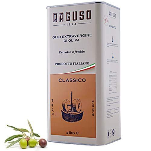 "FRANTOIO RAGUSO - Natives Olivenöl Extra 5L - Klassisch - 100% Italianische Oliven - Kalt Gepresst - Mittleres Aroma - ""Gambero Rosso"" Gewinner"