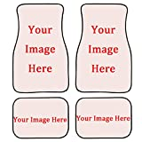 Upetstory Custom Auto Floor Mats Personalized 4 Pack Car Floor Foot Mats for Women Men Heavy Duty Truck Interior Decorations Put Your Image on