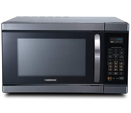 Best black microwave with stainless steel interior