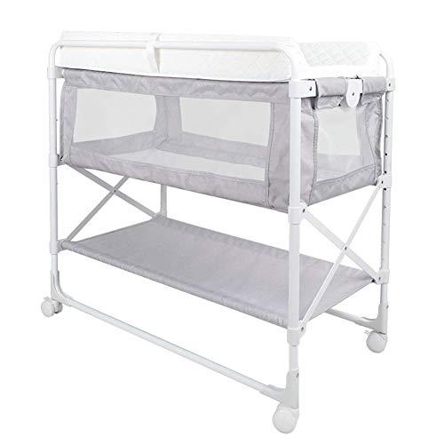 sxtylqq wieg luier tafel babybedje opvouwbare verstelbare hoogte veranderen pad covers pasgeboren bed in bed multifunctionele verpleegtafel veranderen tafel
