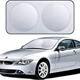 XBRN Car Windshield Sun Shade - Keeps Out UV Rays Sun Visor Protector, Protects Vehicle Interior Cool and Damage Free,Easy to Use, Fits Windshields of Various Sizes