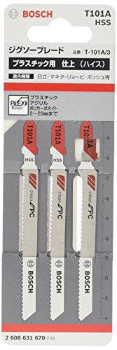 Bosch Professional 3x Stichsägeblatt T 101 A Special for Acrylic (für Plexiglas- & Polycarbonatplatten, Zubehör Stichsäge)