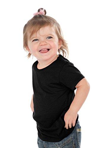 Kavio! Unisex Infants Crew Neck Short Sleeve Tee (Same IJP0493) Black 18M