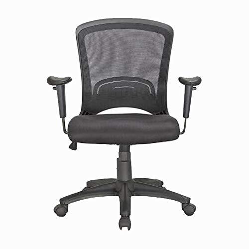 HFTEK - Silla de oficina ergonómica con reposabrazos, silla de escritorio para oficina o oficina, color negro, Negro , FYI5026A