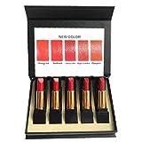 Barra de labios mate Set Smooth Crema hidratante labial Lápiz labial impermeable Pro Labios Maquillaje terciopelo brillo de labios cosmética kit de regalo para las mujeres Girls5
