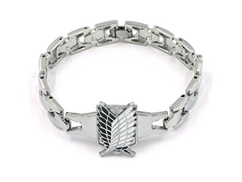 CoolChange Attack on Titan Metall Armband mit Wappen des Aufklärungstrupp
