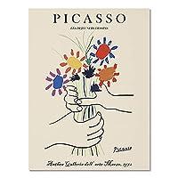 ヴィンテージピカソマティスのポスターと版画、抽象的な女の子の体の花の壁の芸術、家の装飾のキャンバスの絵画 A2 70x100cm