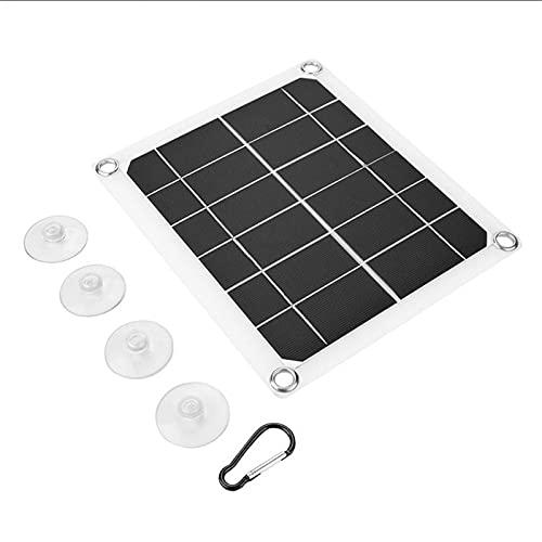 WFEI Panel Solar de 10W, Cargador de batería portátil de Doble USB 5V 2A, Cargador de Coche de Placa de celda Solar para teléfono, RV, Coche, Barco, yate, Camping