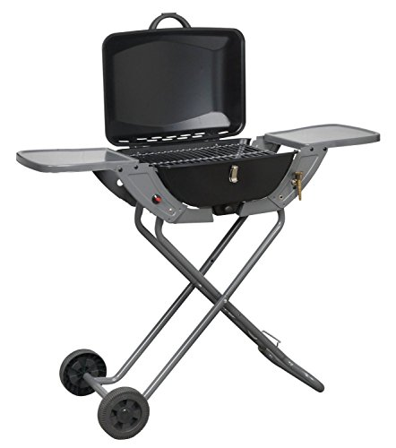 Folding Gas Barbecue Combo BBQ Trolley Portable Picnic Table Top Stove