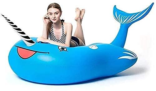 KCGNBQING Piscina Float Floating Row Bed Bed Point Float, Balsa de Piscina Inflable Gigante, Pontón de Natación PVC, Playa y Piscina Tumbonas, 230x110x130cm Juguete Inflable de Agua