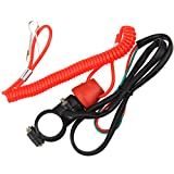 ZOOKOTO Kill Stop Switch for Motorcycle Boat Outboard Engine Motor 22mm 7/8' with Tether Lanyard Cord