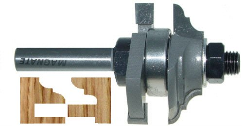 Magnate 9009 Reversible Stile & Rail Router Bits - Cove & Bead Profile; 7/8' Cutting Height