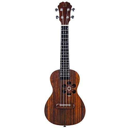 YL Populele 23 pollici 4 corde Ukulele Concerto 18 Fret Roeswood intelligente Ukulele Soprano Supporto APP insegnamento Mini Instrumentos Musicias (Color : Chocolate)