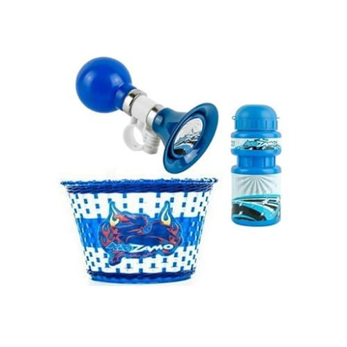 Kit Kidzamo Infantil Cesta Garrafa e Buzina (Azul)