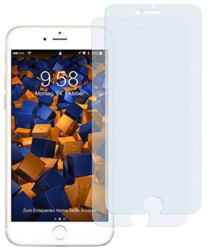 mumbi Schutzfolie kompatibel mit iPhone SE 2 2020 Folie, iPhone 7 Folie, iPhone 8 Folie klar, Bildschirmschutzfolie (2X)