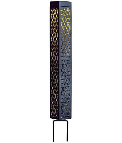 Dehner Solar Stehleuchte Elmina, ca. 90 x 11 x 11 cm, Metall, grau