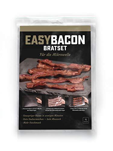 EASYBACON Frischer Knuspriger Bacon Mikrowelle in nur 3 Minuten - Sauber Schnell Geruchlos und ohne Braten