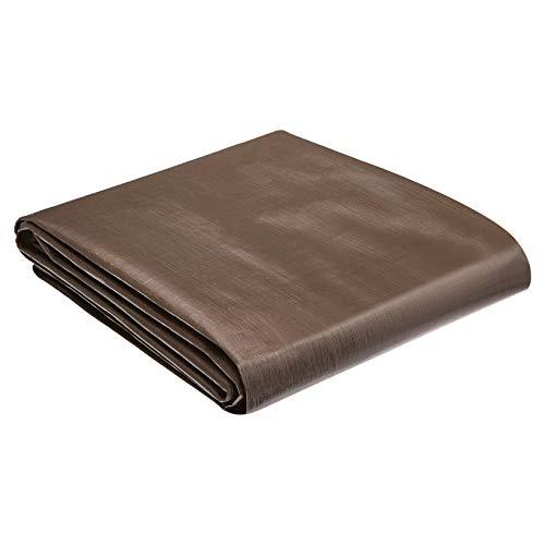 AmazonCommercial Bâche étanche multi-usage en polyéthylène, 3,6 x 7,3m, épaisseur 10 MIL, Marron/Argenté, Lot de 1