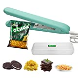 Mini Bag Sealer,Heat Sealer,Chip bag sealer,TCDO Handheld Food Sealer Bag Resealer for Food Storage,Portable Smart Heat Sealer Machine with 2 Smart Switches on the Side for Plastic Bags, Snack Bags, Chip Bags, paper crimper,Vacuum food storage bag.