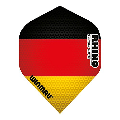WINMAU Rhino Long Life Extra Thick Flights Std, 3 Stück (Deutschland (Flagge))